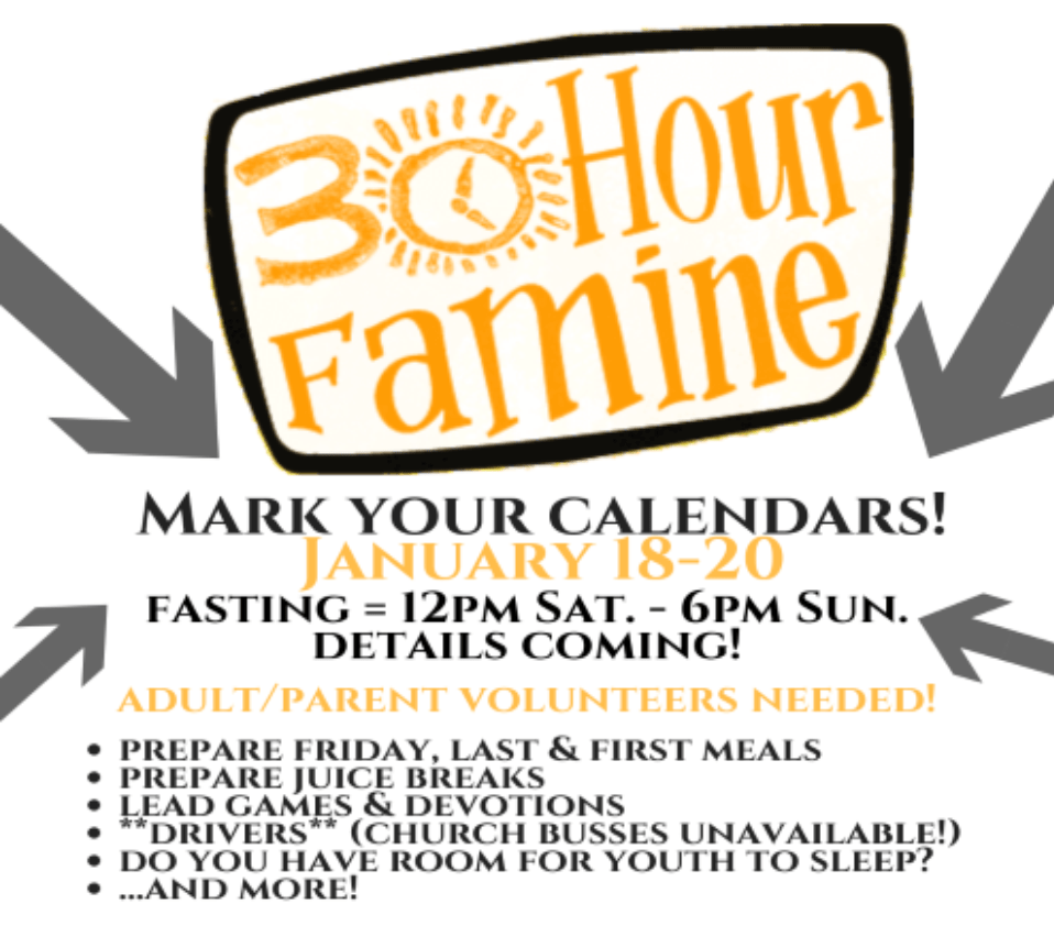 High School Youth 30 hour famine.