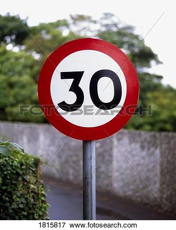 Picture of 30 Mph Road Sign 1815817.
