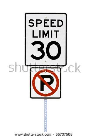 30 Mph Limit Stock Photos, Royalty.