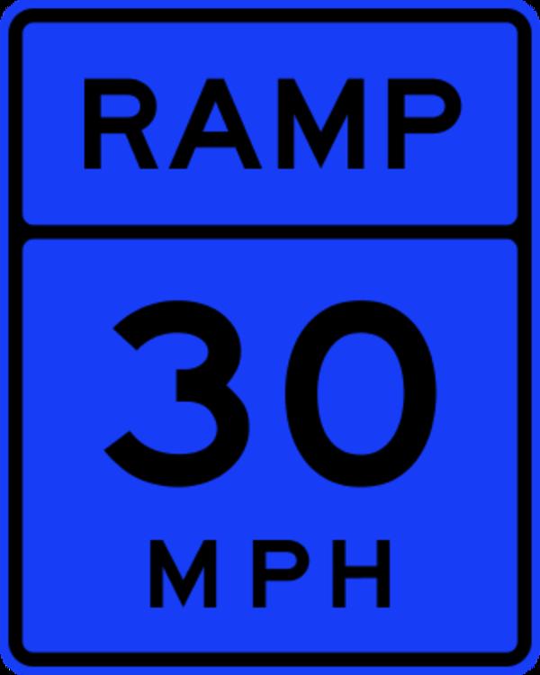 30 MPH Ramp Traffic Sign.