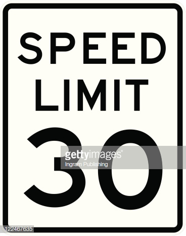 Speed Limit Sign 30 Mph Vector Art.
