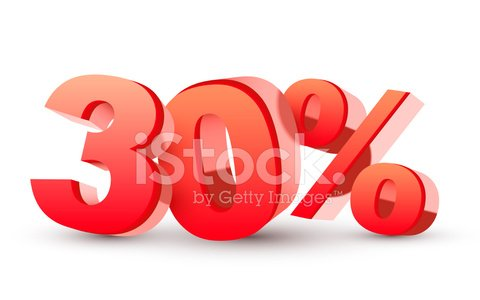 3d Shiny Red Discount Collection 30 Percent premium clipart.
