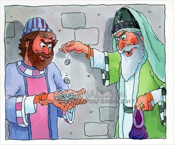 Judas Takes Thirty Pieces of Silver.