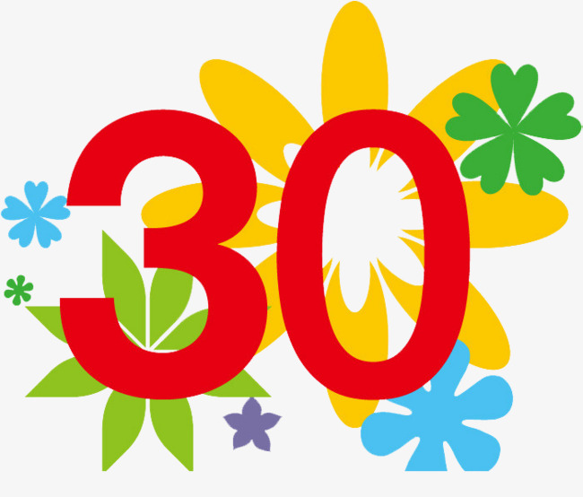30th Anniversary Celebration, 30 Years, Pattern Background.