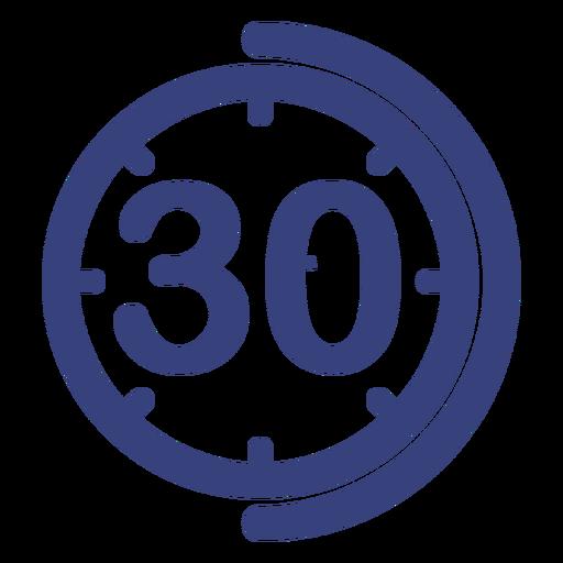 30 minutes clock icon.
