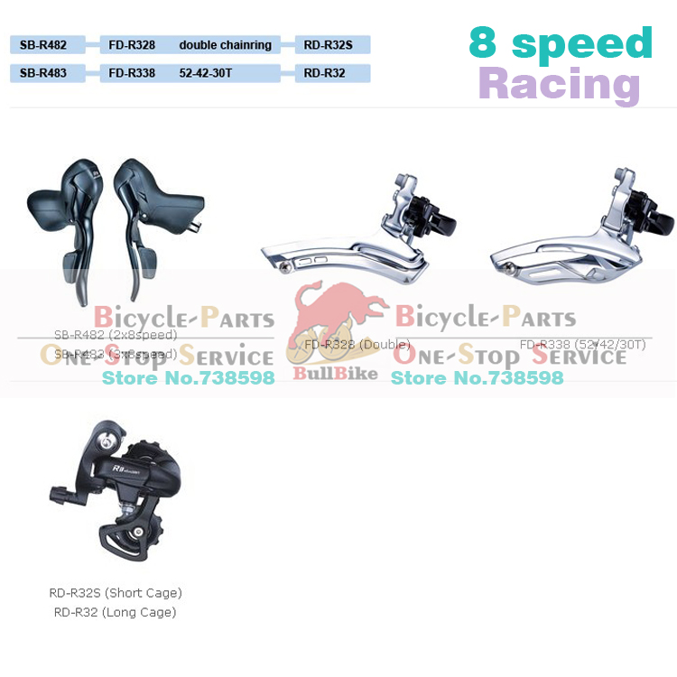 Aliexpress.com : Buy Free shipping microshift 2*8 3*8 speed raod.
