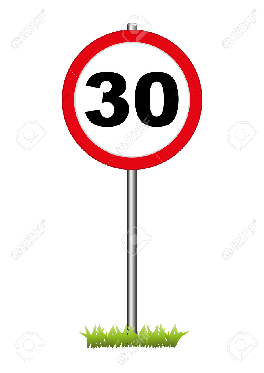 A 30 Speed Limit Sign Royalty Free Cliparts, Vectors, And Stock.