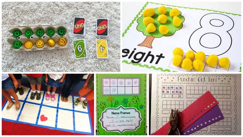 10 Frame Activities and Lesson Ideas.