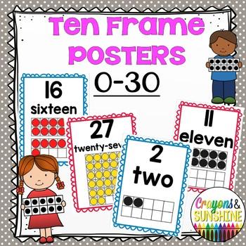 Math Ten Frame Posters 0.