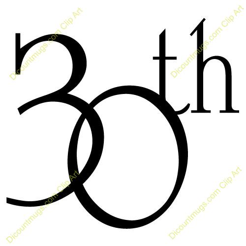 Happy 30th Anniversary Clip Art.