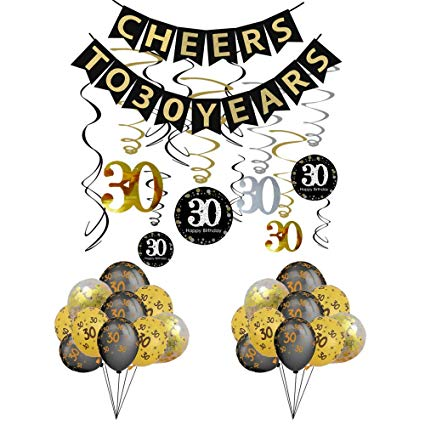 Amazon.com: 30th Birthday Party Decorations KIT.