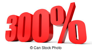 Three hundred percent off discount 300 Clipart and Stock.