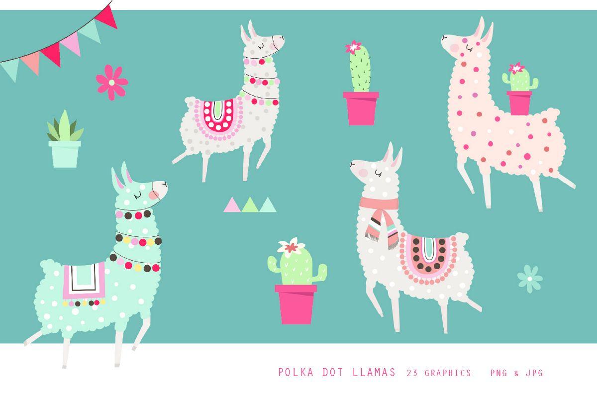 Fun Polka Dot Llama Set.