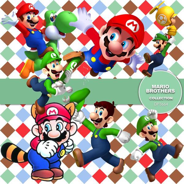 Mario Brothers Digital Paper DP3664.