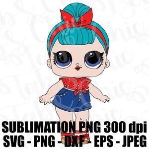 B.B. BB Bop LOL Surprise SVG JPEG High Def L.O.L. PNG 300 dpi DXF Topper  Sublimation Design.