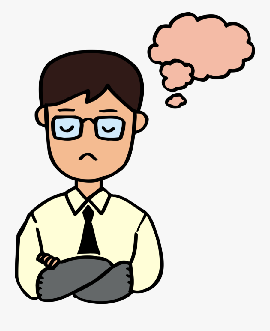 Transparent Sad Man Clipart.