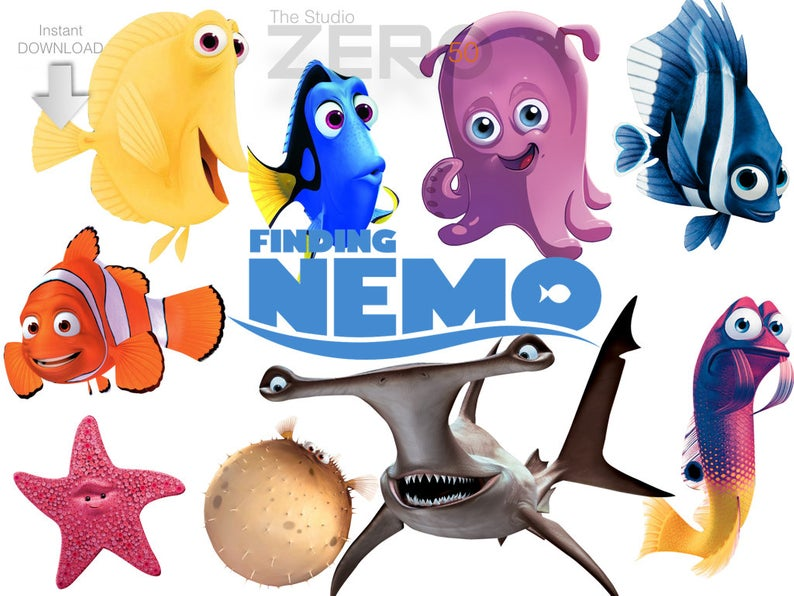 Download Free png 50 Finding Nemo Clipart 300DPI PNG Images.