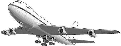 Silhouette of 300l plane vector clipart.