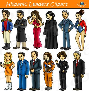 Hispanic Leaders Clipart.
