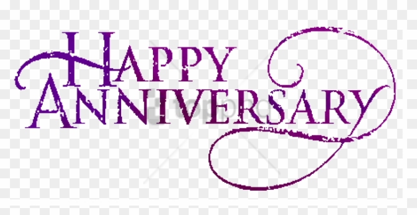 Anniversary Text Png Image With Transparent Background.