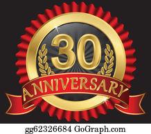 30Th Anniversary Clip Art.