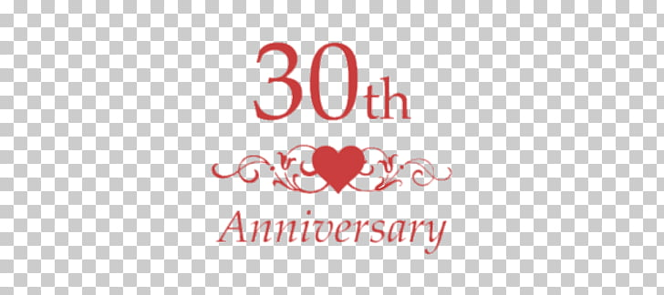 30th Wedding Anniversary, 30th anniversary text PNG clipart.