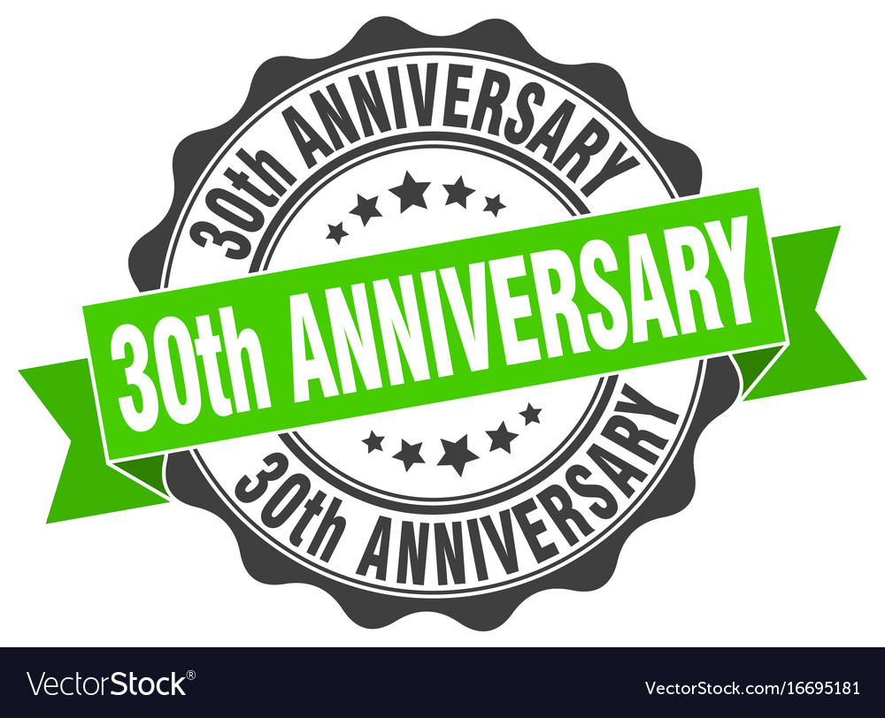 30th anniversary stamp sign seal.
