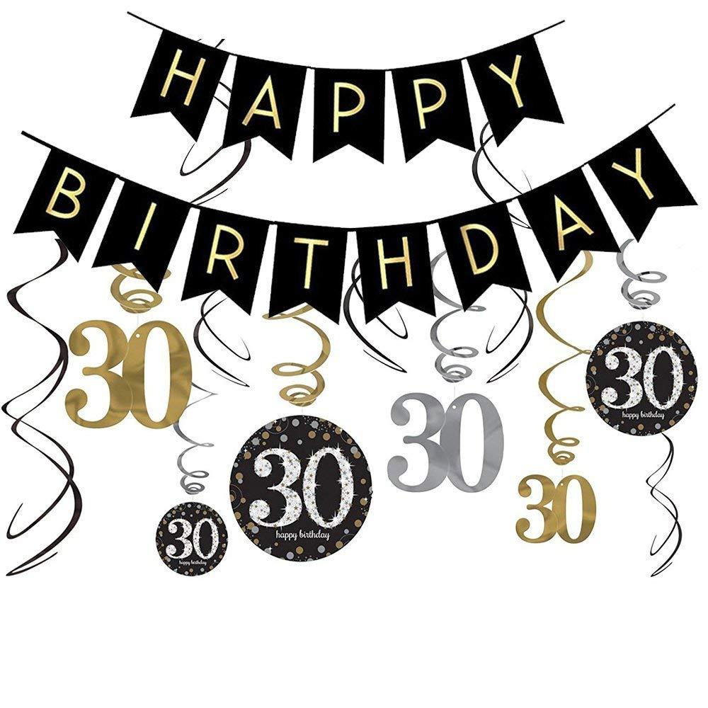Buy 30th Birthday Decorations Kit.