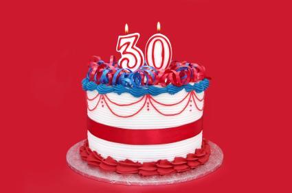 80th Birthday Cake Clipart.