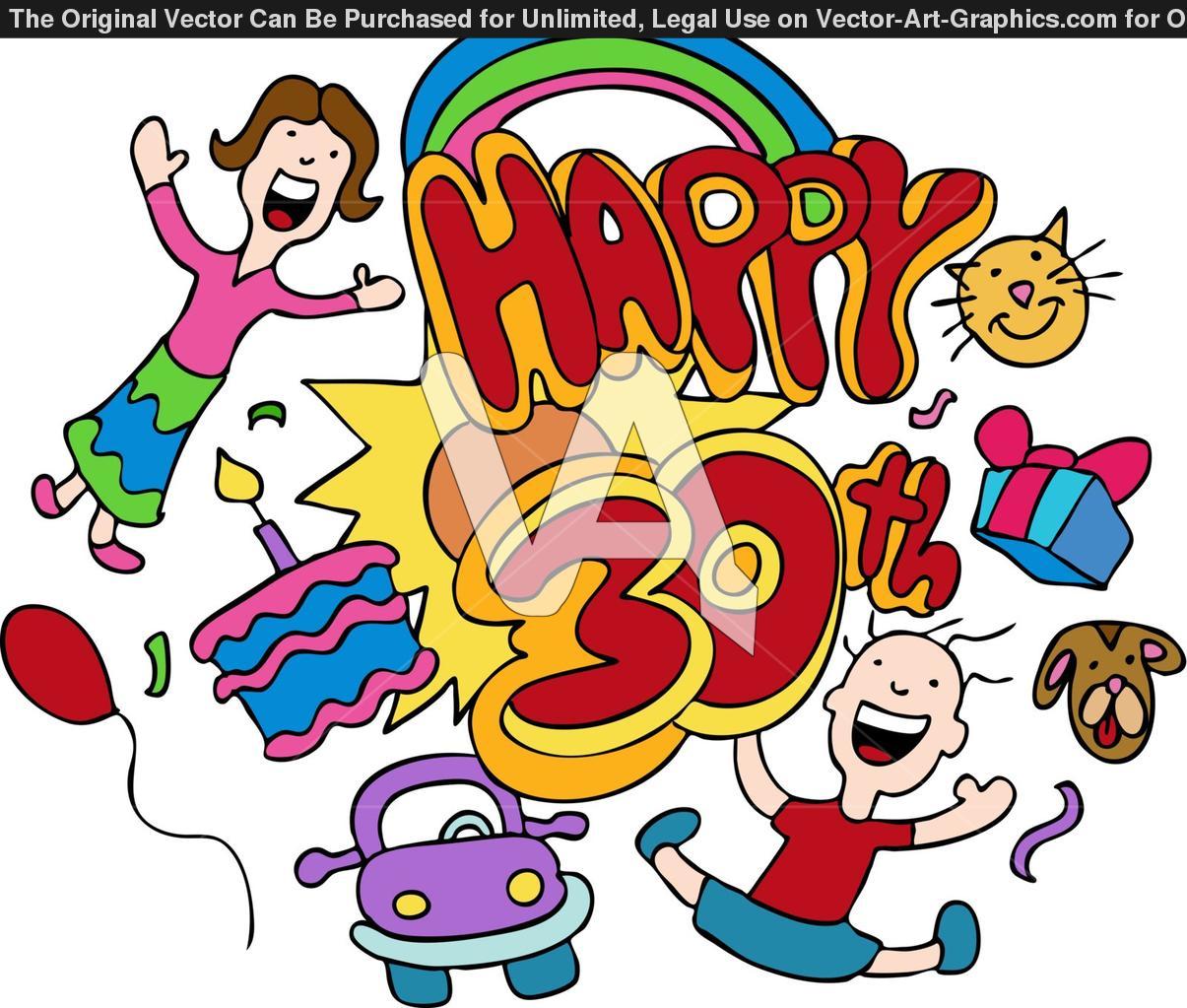 30th Birthday Clip Art N21 free image.