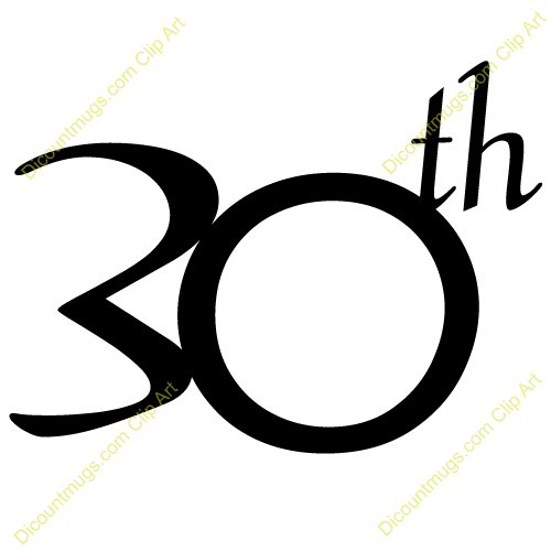 Free 30th birthday clipart 2 » Clipart Portal.