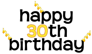 30th birthday clipart free » Clipart Portal.