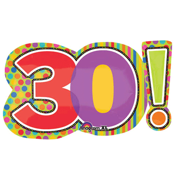30th birthday clipart 6 » Clipart Station.