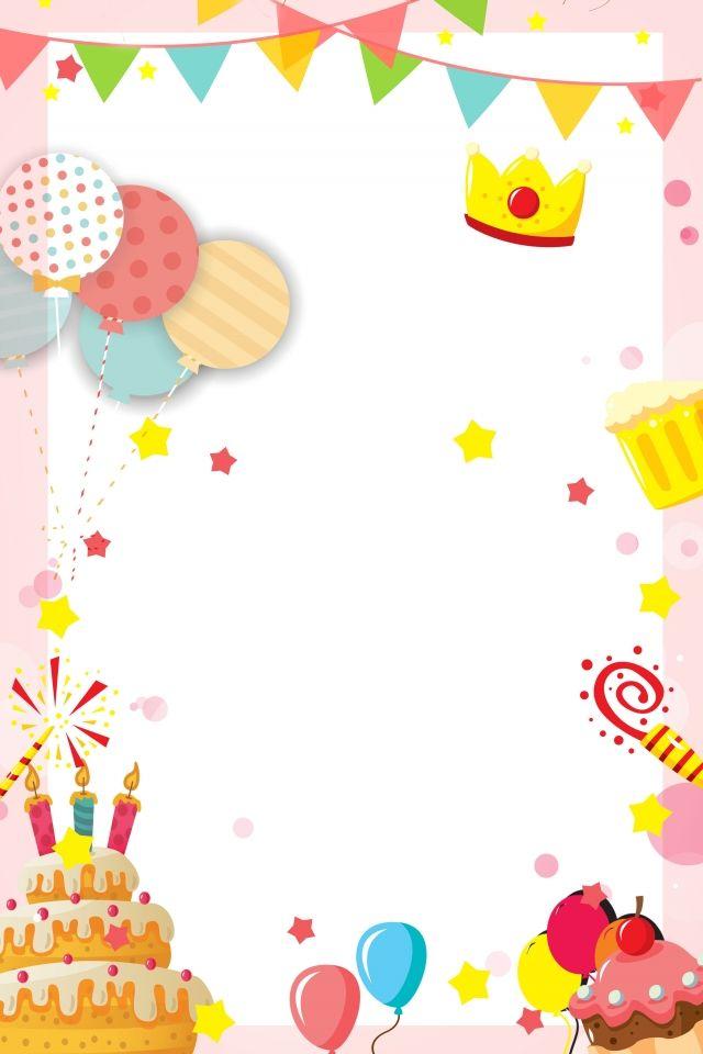 Birthday Party Invitation Card Warm And Romantic Child.