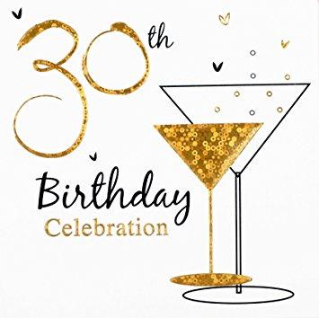30th Birthday Clipart.