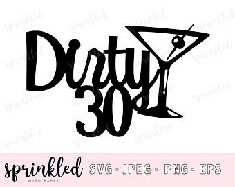 Dirty 30 svg.