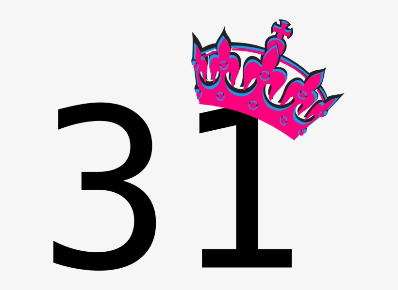 Pink Tilted Tiara And Number 31 Clip Art At Clker Com.