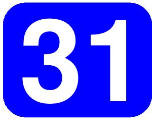 Number 31 clip art Free Vector / 4Vector.