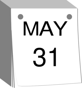 May 31 Clip Art at Clker.com.