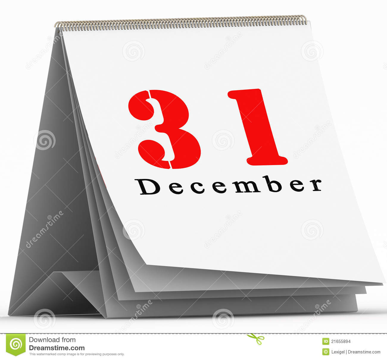 31 December Calendar Stock Illustrations.