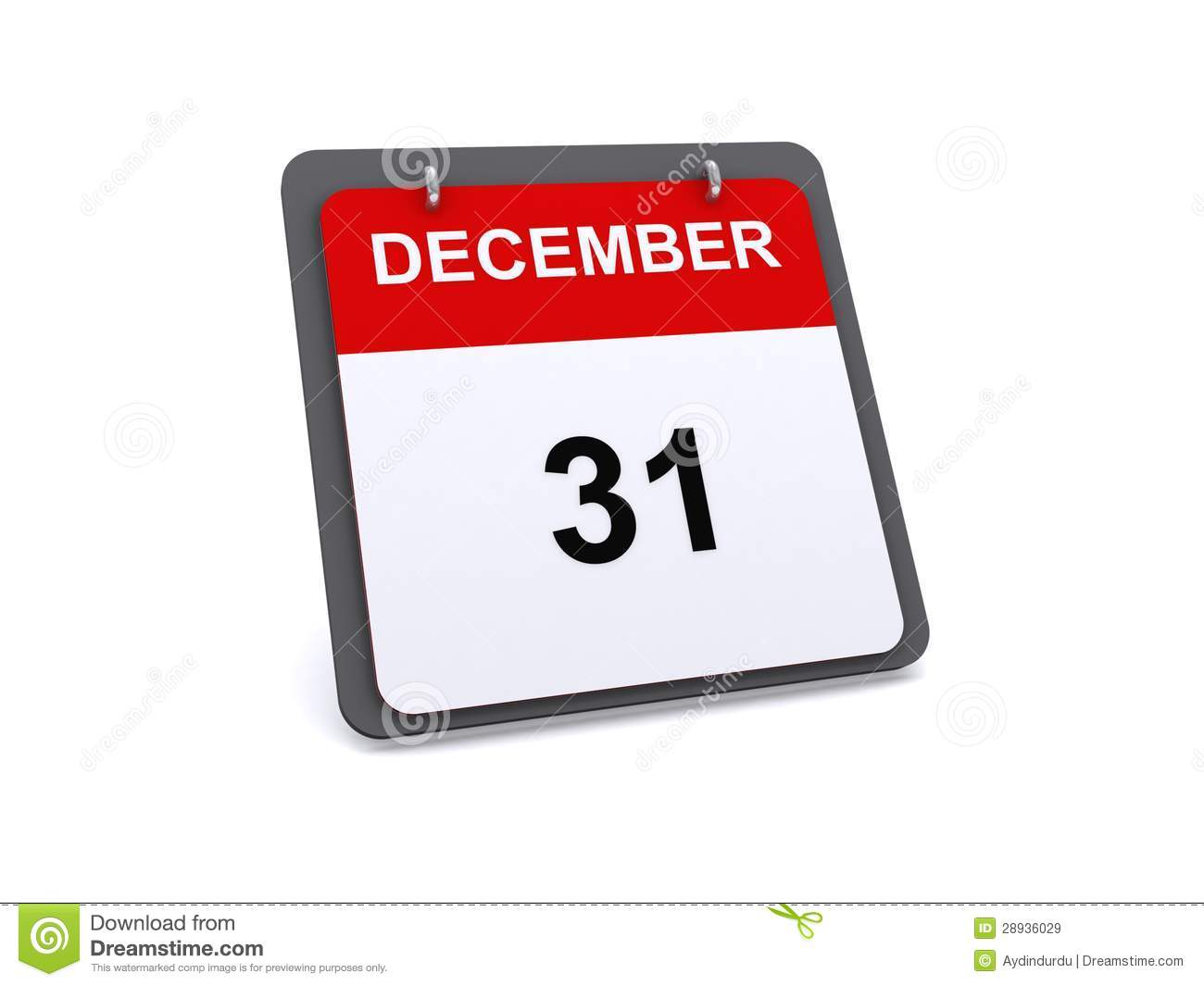 December 31 Icon Or Symbol Royalty Free Stock Images.