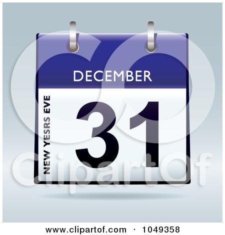 December 31 Clip Art.