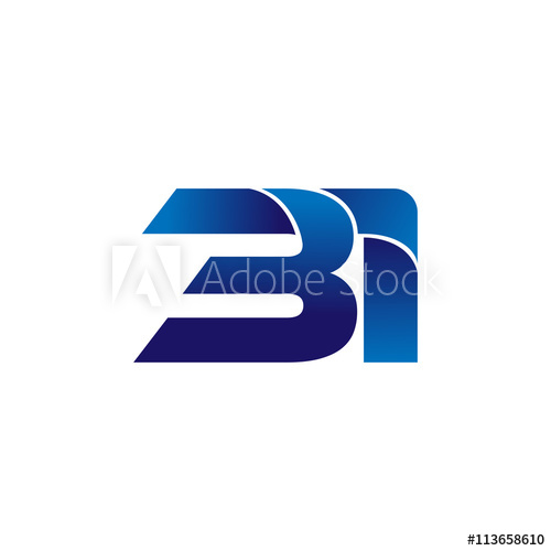 Simple Numbers Logo Vector Blue 31.