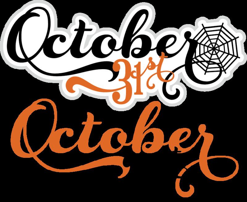 October 31 Clip Art.