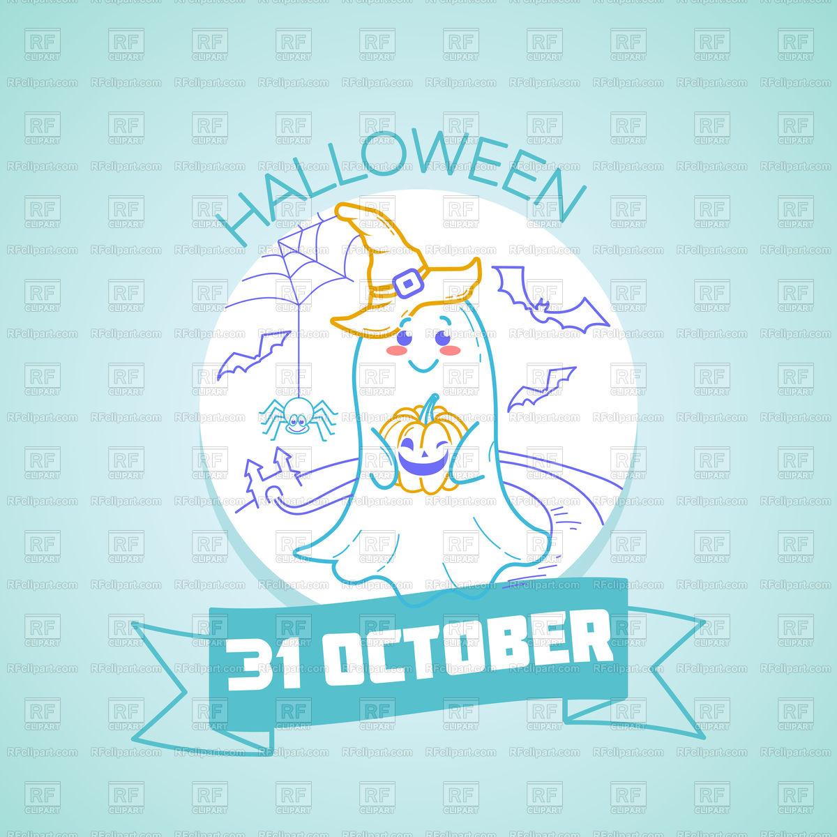 Calendar for October 31. Holiday.
