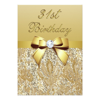 31st Birthday Invitation Wording.