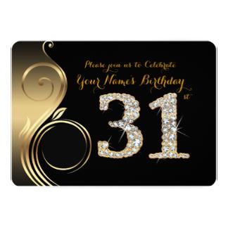 31st Birthday Invitation Wording.