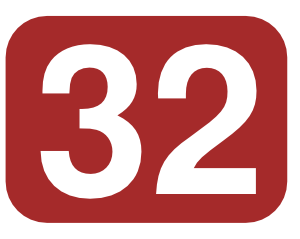 Number 32 Clipart.