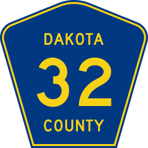 Highway Sign Dakota County Route 32 Clip Art at Clker.com.