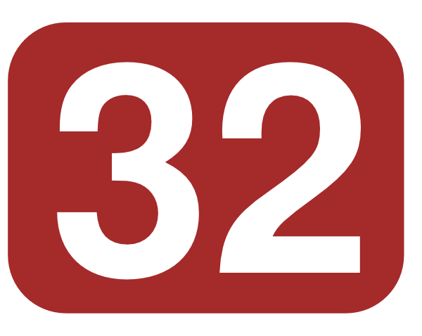 Brown Rounded Rectangle With Number 32 Clip Art at Clker.com.